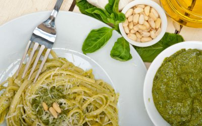 Chicken basil pesto pasta