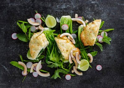 Coconut and Lime Crusted Chicken