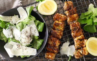 Kingklip Kebabs with Home-made Red Pepper Pesto