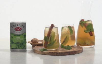 Maka Hlelo's Five Roses Peppermint iced tea