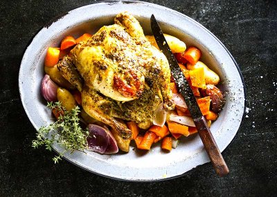 One Pot Roasted Chicken