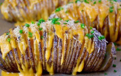 Woolworths Roast Hasselback Potatoes with Caper Butter