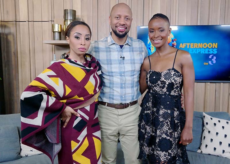 Khanyi Mbau Phat Joe Bonnie Mbuli on Afternoon Express