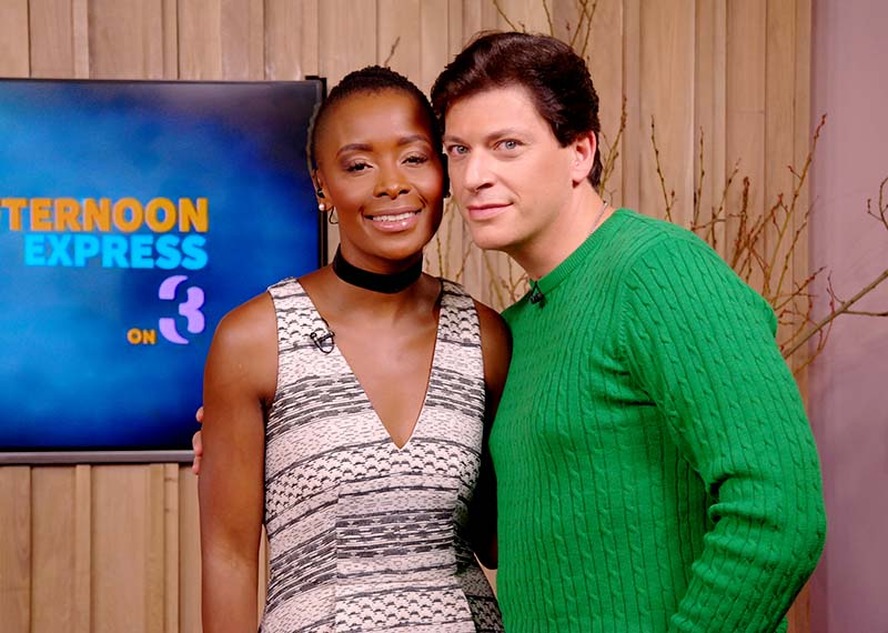 Bonnie Mbuli and Patrizio Buanne