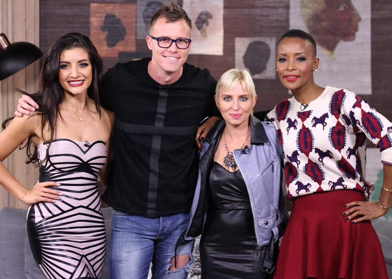 Jeannie D and Bonnie Mbuli with Monark and Marietjie Bothma