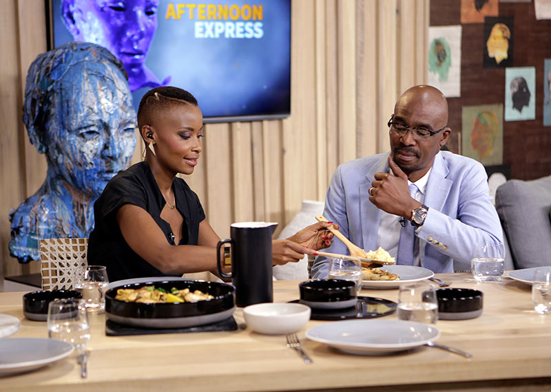 Bonnie Mbuli and Bob Mabena on Afternoon Express