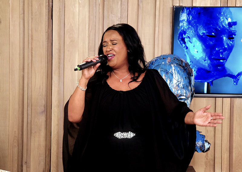 Vicky Sampson performs on Afternoon Express