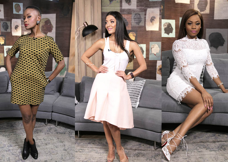 Presenter Style Bonnie Mbuli Jeannie D and Bonang Matheba on Afternoon Express