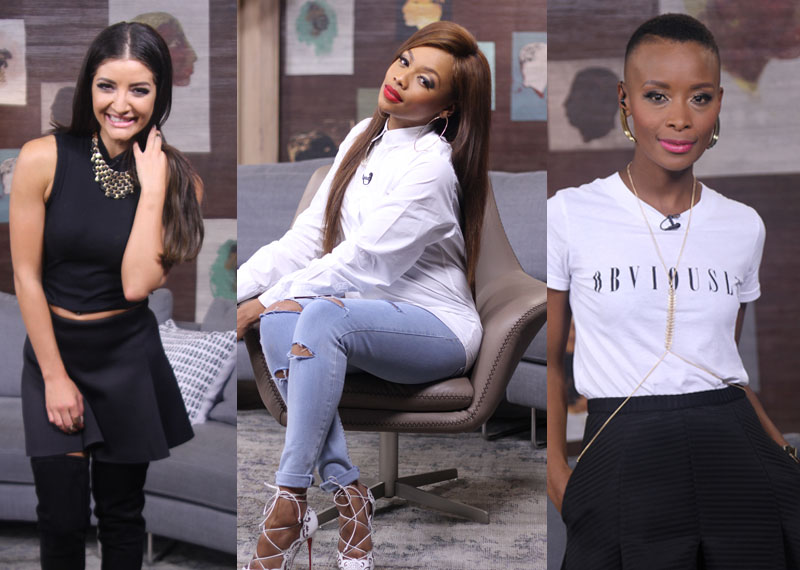 Afternoon Presenters Jeannie D Bonang Matheba and Bonnie Mbuli looking on point