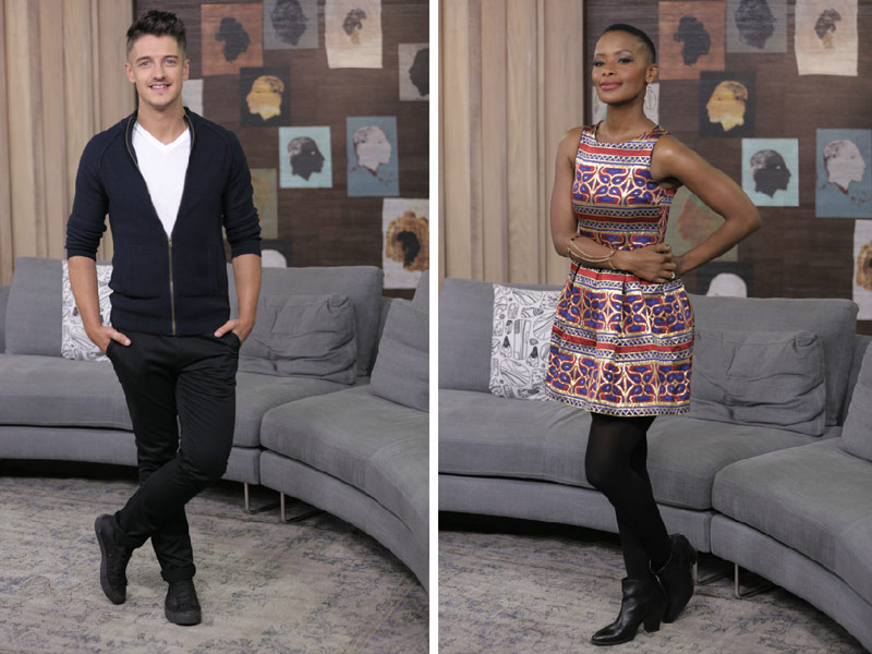 Afternoon Express Presenter Style Bonnie Mbuli and Danilo Acquisto