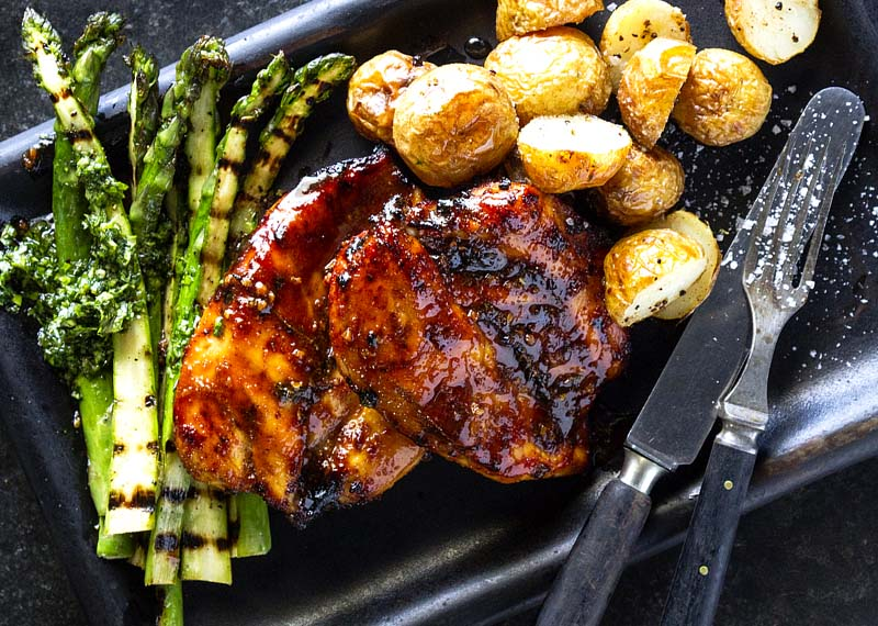 Butterflied Grilled chicken breast