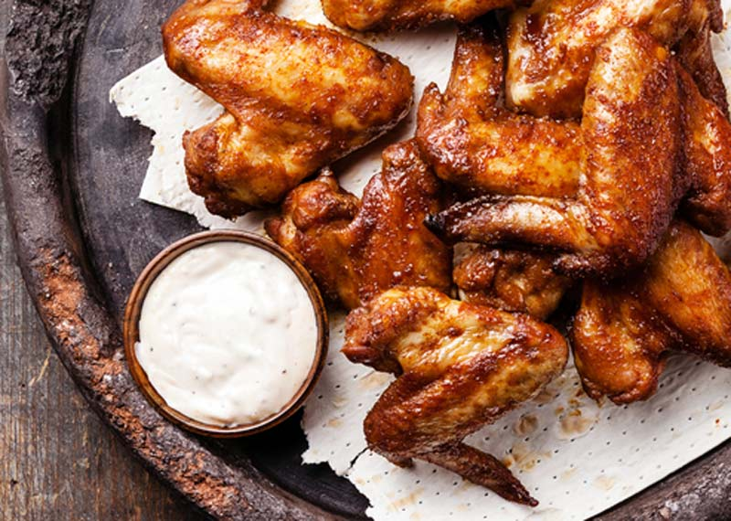 Hylton Espey make BBQ chicken wings on Afternoon Express