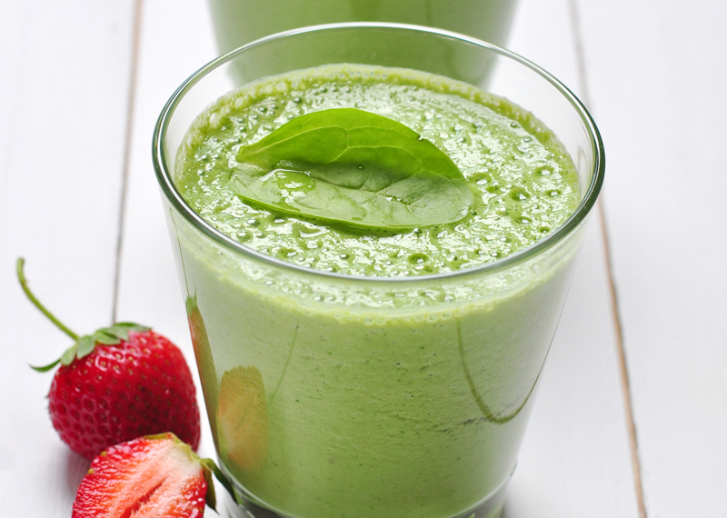 Afternoon Express green heart smoothie