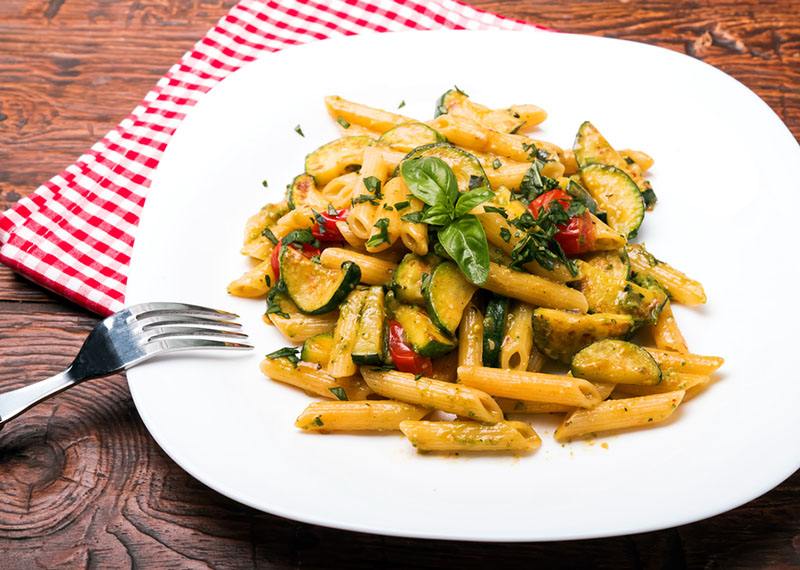Roasted ratatouille penne