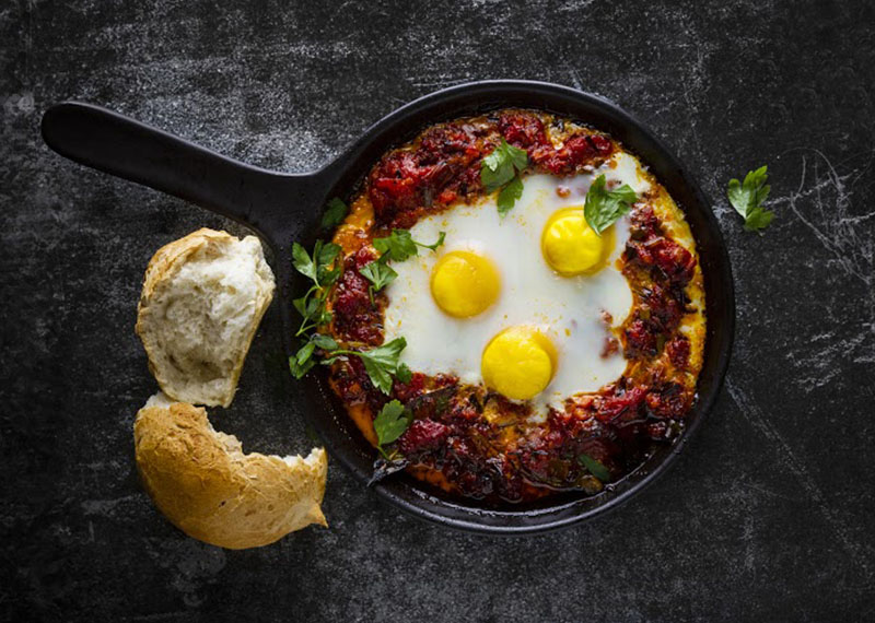 Baked Egg in Tomato Ragu