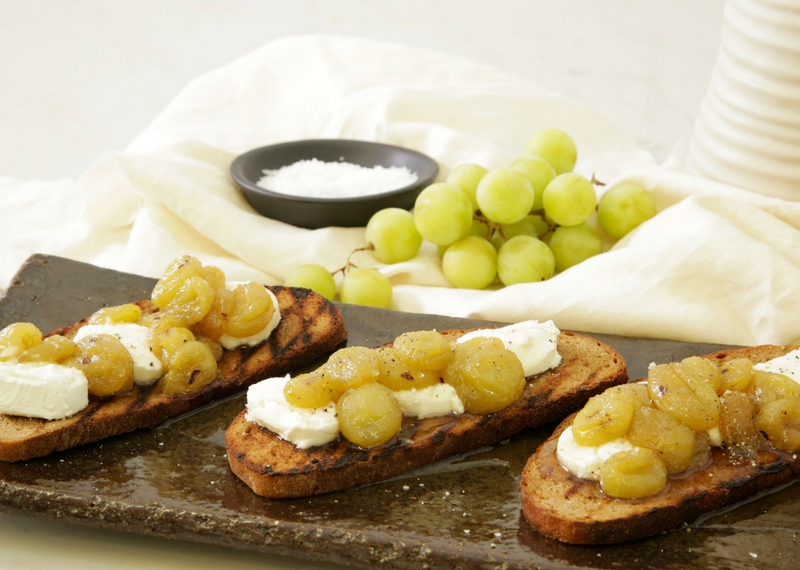 Roasted Grapes and Cheese on Croute