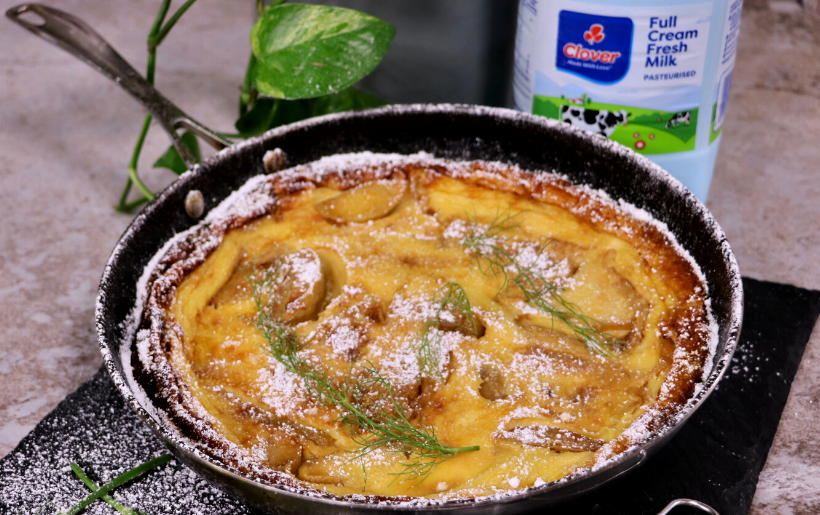 Apple and Fennel clafoutis