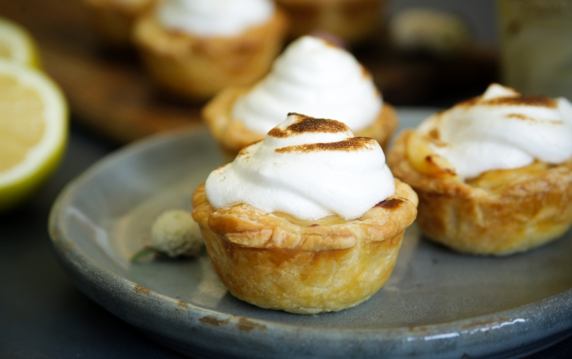 Clover Bliss Lemon Meringue Portuguese tarts