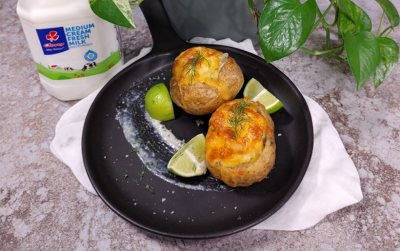 Baked Fish Pie Jacket potatoes