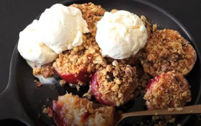 Biscuit Dipper Stone Fruit Crumble