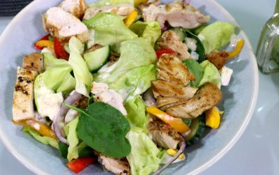 Chicken salad with milky dressing