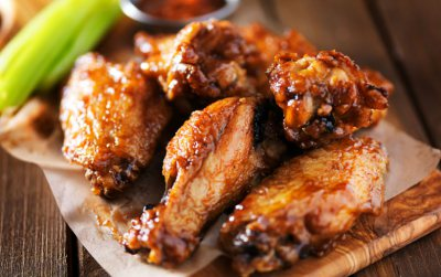 Chipotle and Clemengold glazed chicken wings