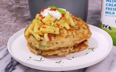 Clover Fresh milk Mac and Cheese flapjacks