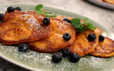 Coconut and butternut fritters