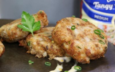 Fishcakes with Clover Classic Spiced Mayo