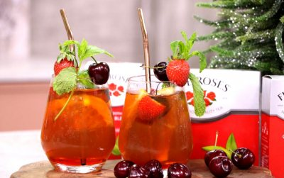 Five Roses Strawberry & Cherry iced tea