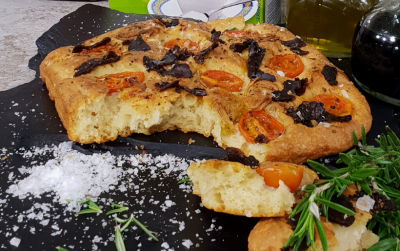 Garlic and Biltong Focaccia