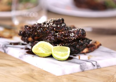 Korean style BBQ beef ribs