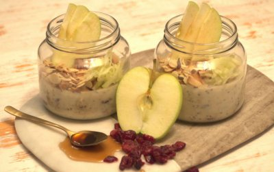 Overnight Oats with cinnamon