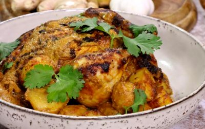 Tandoori Chicken with Ghee Roasted Potatoes