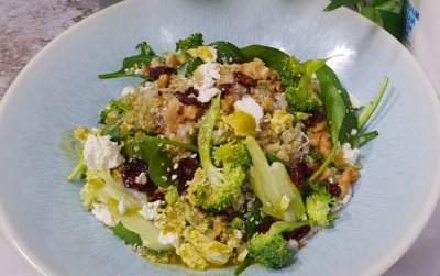 Warm Green Quinoa Salad
