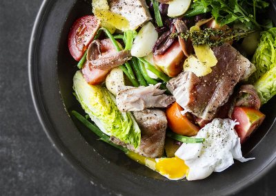 Warm Nicoise Salad with Confit Yellowtail