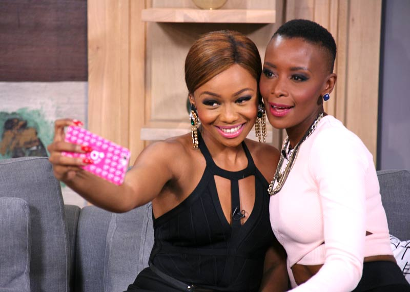 Afternoon Express presenter style Bonang and Bonnie pose for a selfie